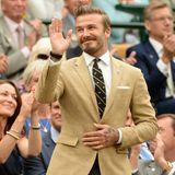 David Beckham schaut lieber Tennis in Wimbledon als Fußball in Brasilien.