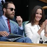 James und Pippa Middleton schauen sich das Match der Deutschen von der Tribüne aus an.