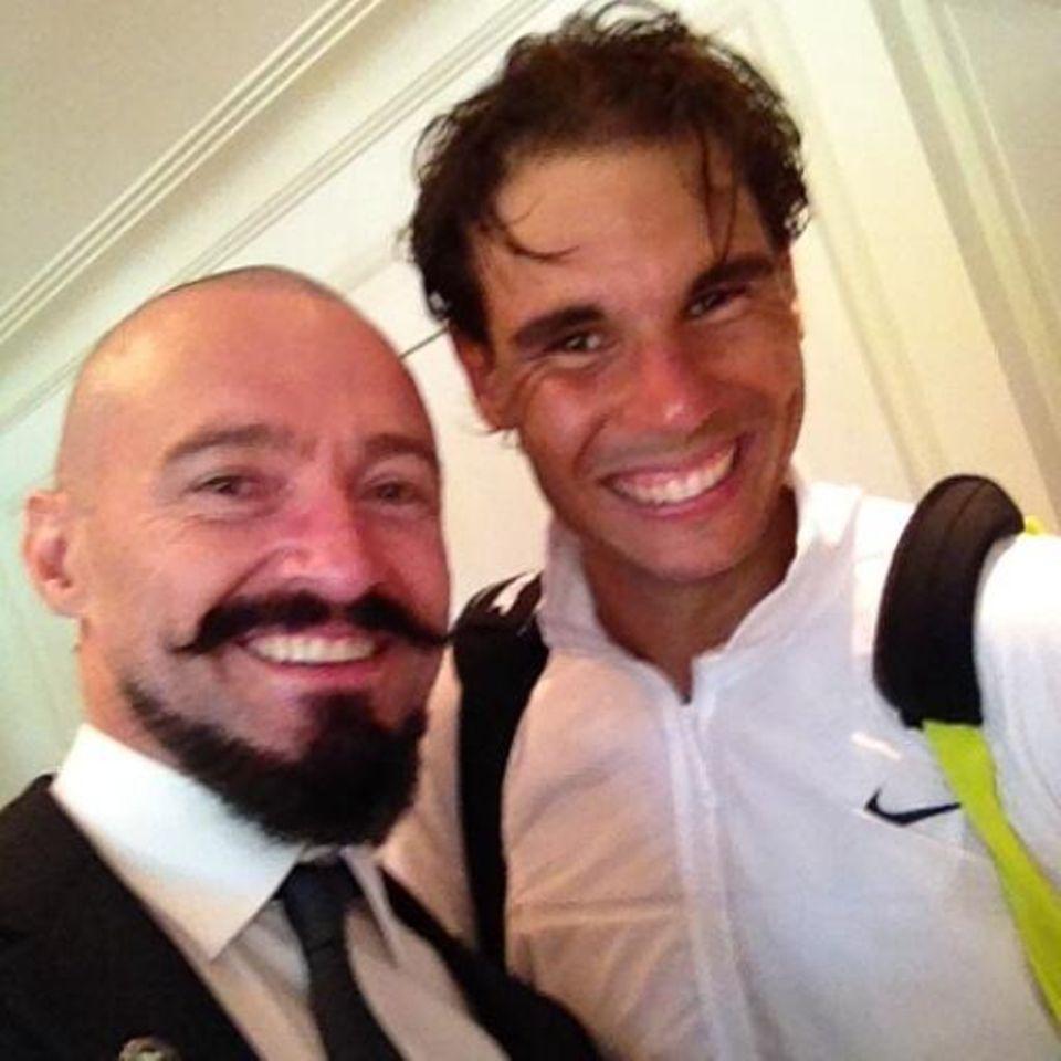 ... auch Rafael Nadal in Wimbledon.