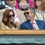 Prinzessin Mary und Prinz Frederik von Dänemark sind auch unter den Zuschauern in Wimbledon.