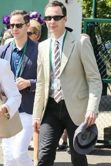 """Der """"Big Bang Theory""""-Star Jim Parsons ist nach London gekommen, um das eine oder andere Tennisspiel zu verfolgen."""