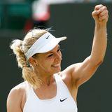 Sabine Lisicki freut sich über ihren Sieg gegen die Tschechin Karolina Pliskova.