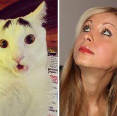 """Katzi  Auch Anastasia Sokol bekommt einen tierischen Spitznamen verpasst. 2013 folgt nach drei Jahren Beziehung die Trennung von seiner """"Katzi""""."""