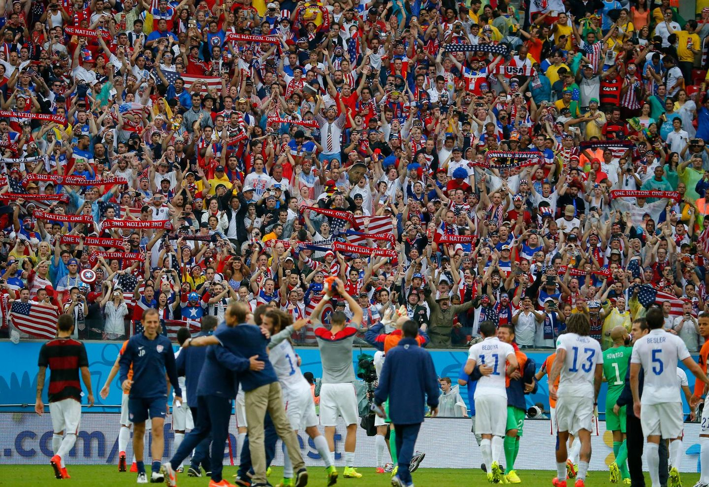 Auch die amerikanische Nationalmannschaft bedankt sich bei ihren Fans.