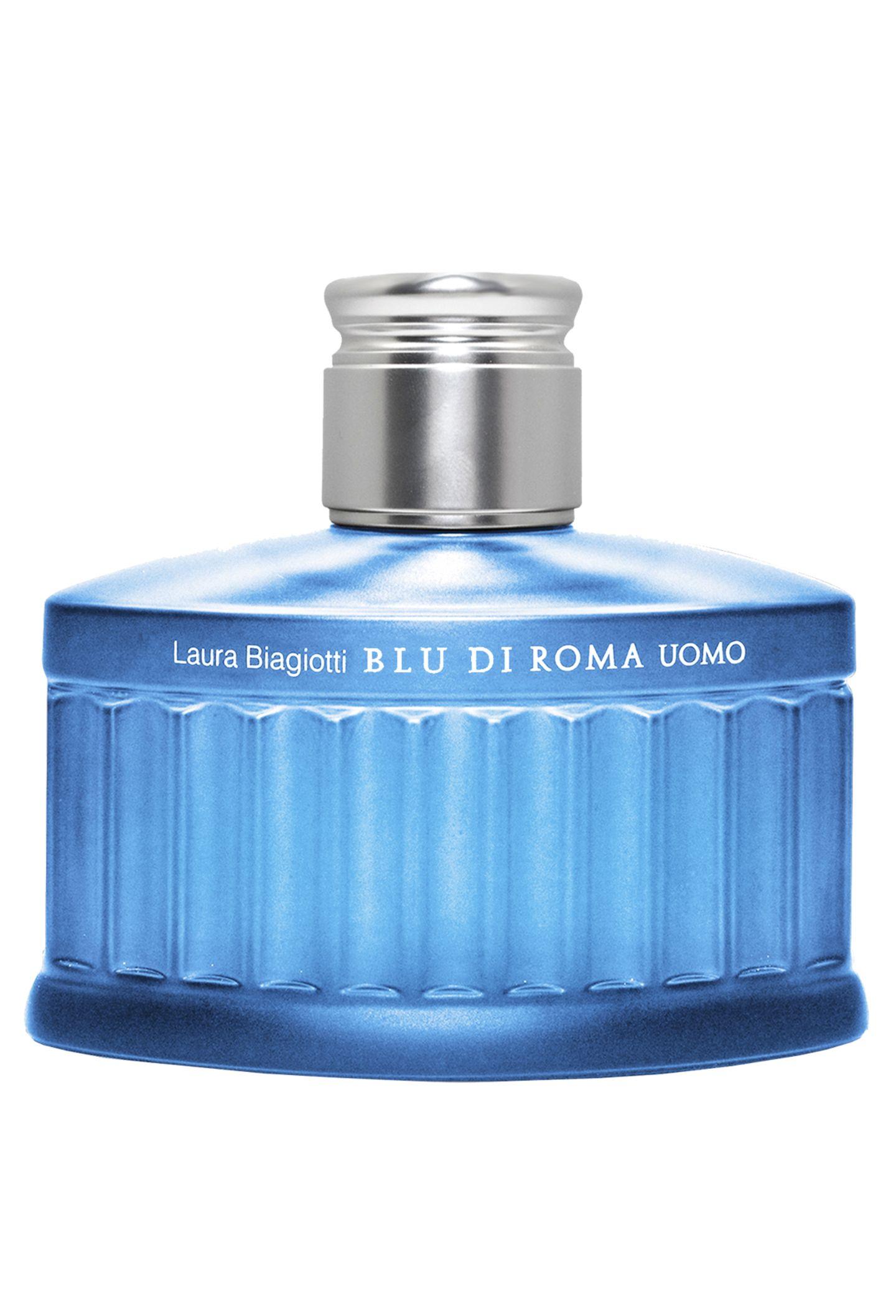 """Die leichten Noten von """"Blu di Roma Uomo"""" verströmen Urlaubsflair. Von Laura Biagiotti, EdT, 75 ml, ca. 53 Euro"""