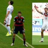 """""""Roooaaar, ich hab ein Tor geschossen. Kommt her und feiert mich!"""". Thomas Müller schafft es immer wieder, den Ball ins Tor zu stolpern. Sein Torjubel ist legendär."""