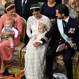 9. September 2016  Prinzessin Victoria hat Oscar auf dem Schoß, Alexander sitzt bei Mama Sofia.