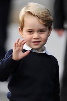 1. Oktober 2016  Bei seiner Abreise winkt Prinz George fleißig den kanadischen Fans.