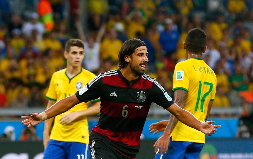 Auch Sami Khedira trifft für das deutsche Nationalteam.