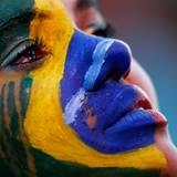 Bei den brasilianischen Fans fließen die Tränen.