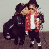 Oktober 2014: Beyoncé und ihre Tochter Blue Ivy verkleiden sich als Janet und MIchael Jackson.