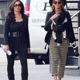 12. März 2012: Mit der kleinen Blue Ivy vorm Bauch geht Beyoncé mit ihrer Mutter Tina in Manhattan spazieren.
