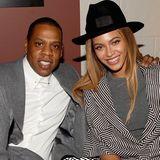 """Dezember 2014: Beyoncé und Jay-Z sind zusammen bei der Premiere von """"Annie""""."""