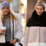 Jessica und Ashley Hart  Die markante Zahnlücke fehlt der kleinen Schwester von Model Jessica Hart zwar, das strahlende Lächeln und die tollen blonden Haare haben aber beide Hart-Schwestern zu bieten.