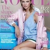 Mit rosiger Haut und Sommersprossen strahlt Taylor Swift auf dem Vogue-Cover.