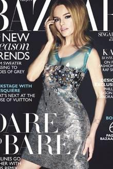 """Auf dem Cover der """"Harper's Bazaar Singapore"""" ist Kate Bosworth auf den ersten Blick kaum zu wiederzuerkennen."""