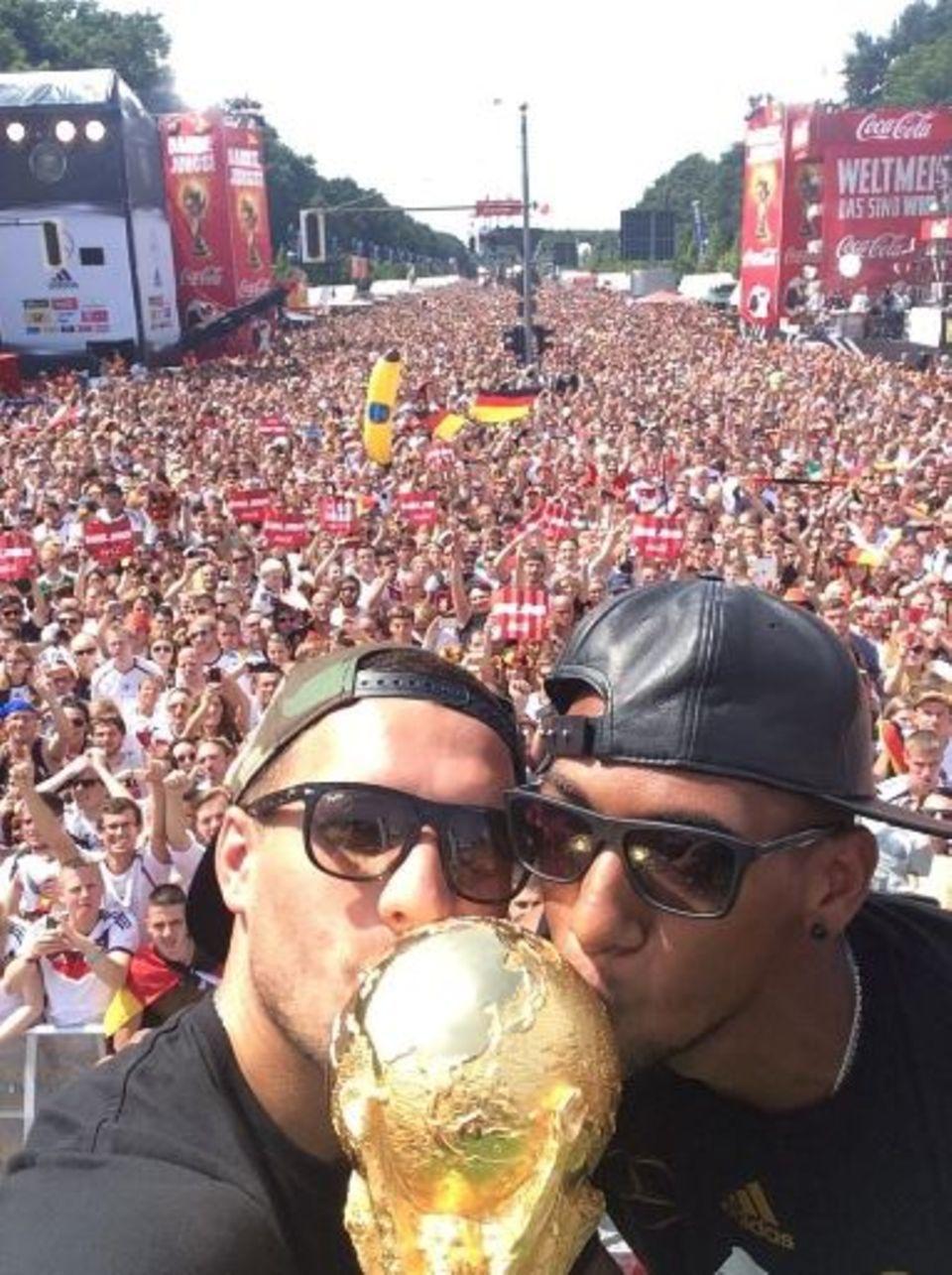Lukas Podolski und Jerome Boateng