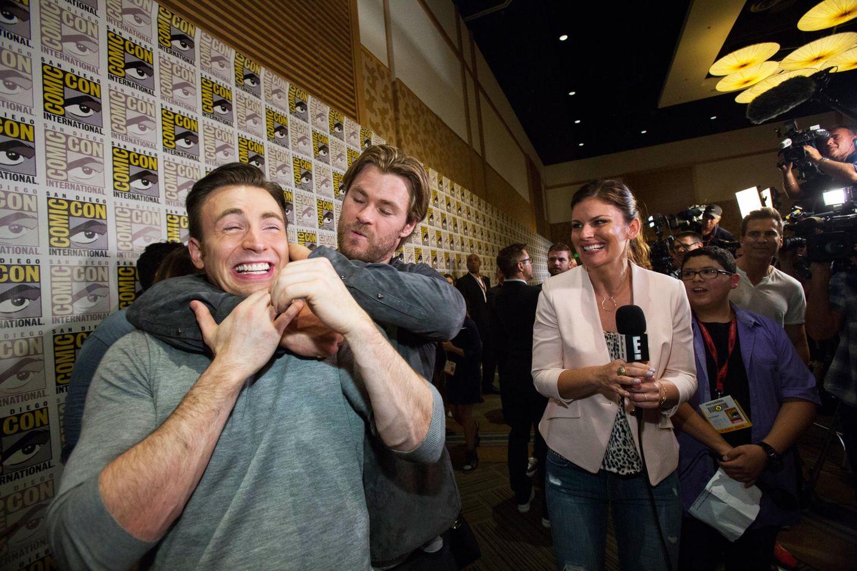 Chris Hemsworth und Chris Evans