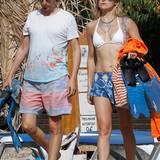 Matthew Bellamy hat eine wunderschöne Strandnixe an seiner Seite: Seine Frau Kate Hudson hat ihrem Bikini ein Upgrade mit Glitzer-Collier und filigraner, goldener Körperkette gegeben.
