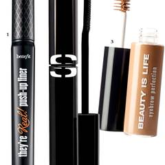 "1. ""They're Real Push-up Liner"" von Benefit, ca. 25 Euro; 2. Mascara ""So Intense – Black"" von Sisley, ca. 45 Euro; 3. ""Eyebrow Perfection – 01 Beige"" von Beauty Is Life, ca. 25 Euro"