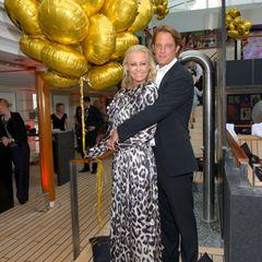 Juni 2014  Jenny Elvers und Steffen von der Beeck bei der 20 Jahre Gala Jubiläumsfeier auf der MS Europa 2.