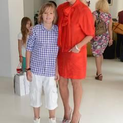 Juli 2012  Jenny Elvers-Elbertzhagen und Sohn Paul beim Gala Fashion Brunch im Ellington Hotel in Berlin.