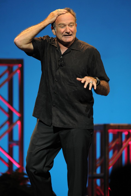 2009: Seine erste Liebe: Wie hier in Miami steht Robin Williams auch weiterhin als Stand-up-Comedian auf der Bühne.