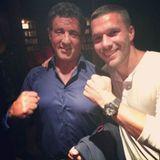 Sylvester Stallone und Lukas Podolski