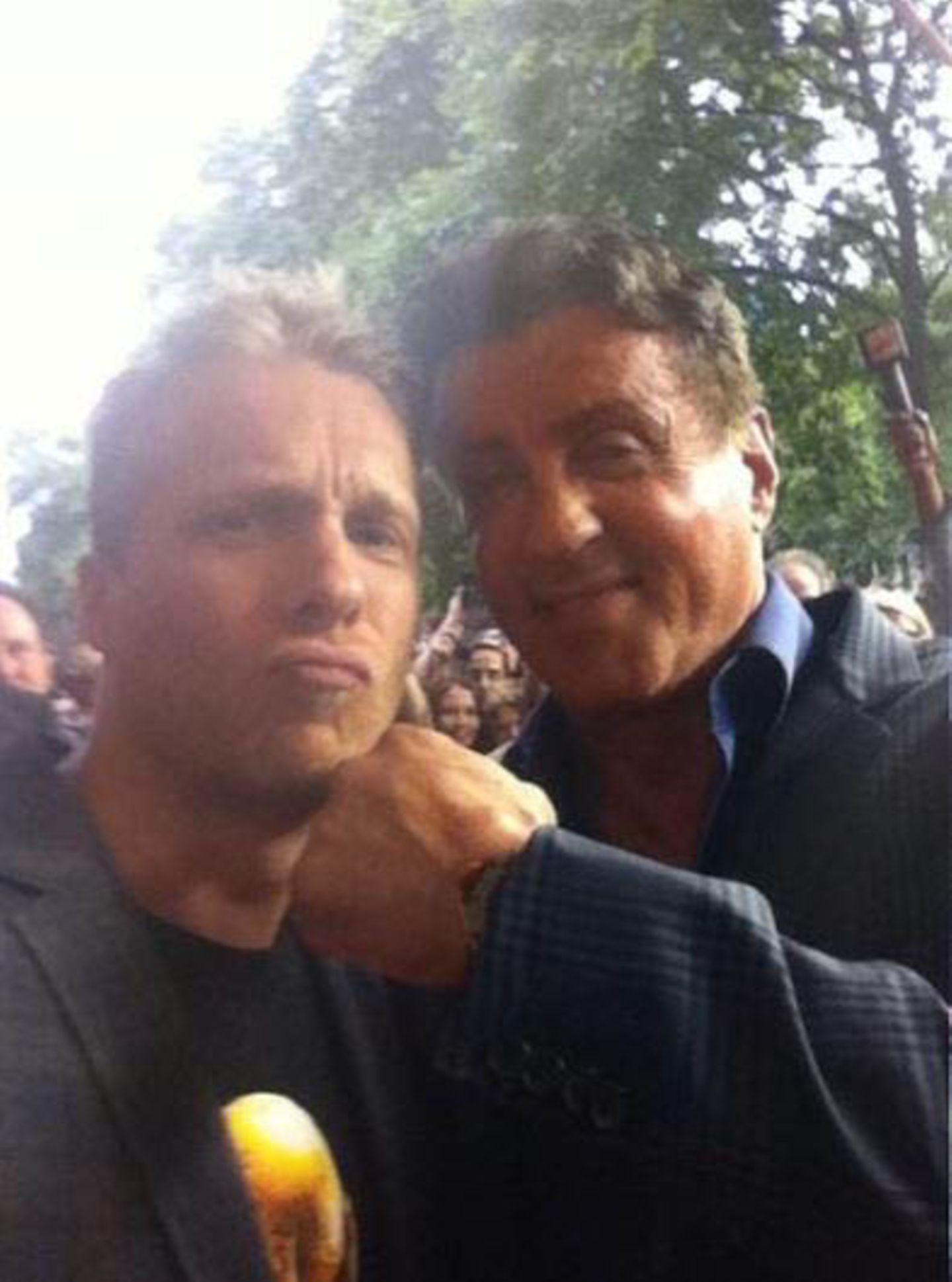 Oli Pocher mit Sylvester Stallone