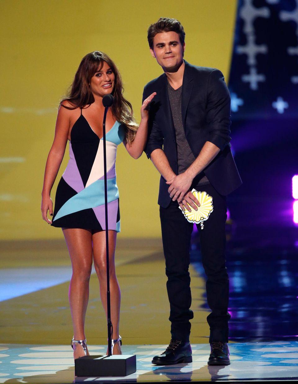 Lea Michele und Paul Wesley