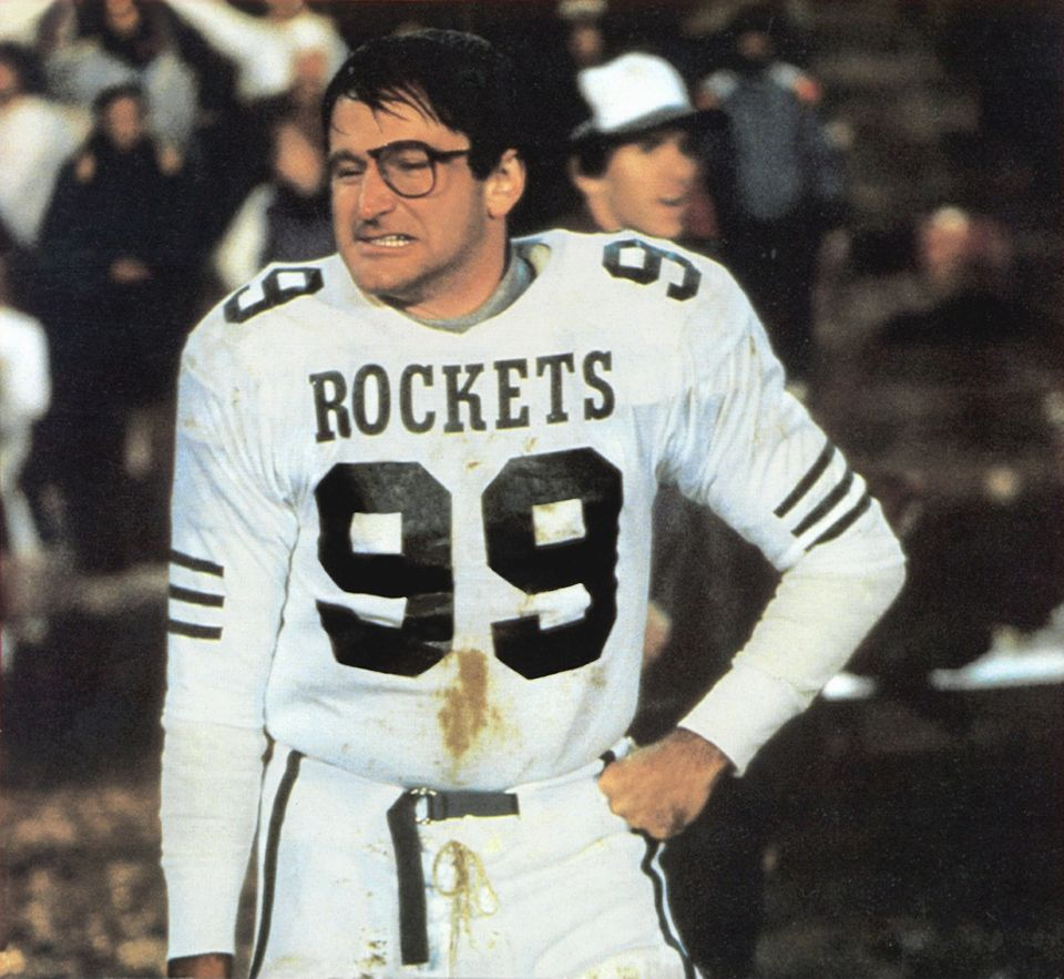 """1986: In """"Rocket Man - Der Beste aller Zeiten"""" geht es um Football. Robin Williams steht als """"Jack Dundee"""" auf dem Feld."""