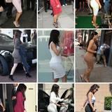 Kim Kardashians Po ist in den letzten Jahren immer runder geworden. Doch ihre Liebe zu hautengen kKleidern ist geblieben.