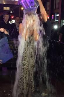 """""""Ice Bucket Challenge"""": Endlich! Nachdem Heidi Klum von Sängerin Lena Meyer-Landrut, Designer Zac Poser und """"America's Got Talent""""-Co-Jurorin Mel B nominiert wurde, tritt nun auch das Model zur """"Ice Bucket Challenge"""" an. Unter viel Gekreische bekommt sie gleich zwei Eimer voll Eiswasser über den Kopf! Hier geht's zum Video ."""