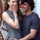 """1999  Nicole Kidman und Tom Cruise stellen ihren gemeinsamen Film """"Eyes Wide Shut"""" vor."""