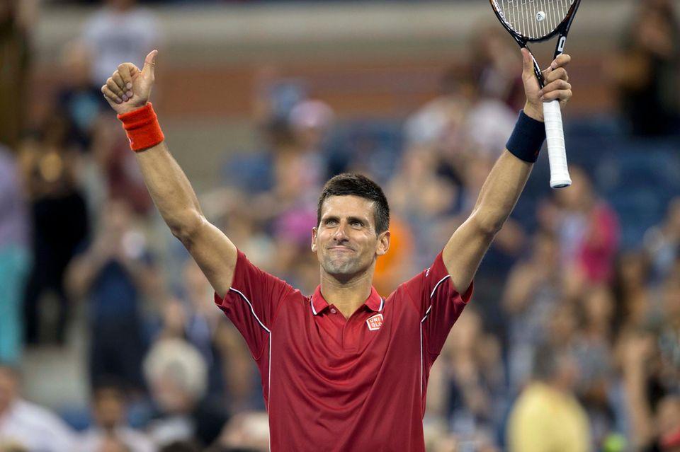 Novak Djokovic gewinnt am ersten Tag des Turniers gegen den Argentinier Diego Schwartzman.