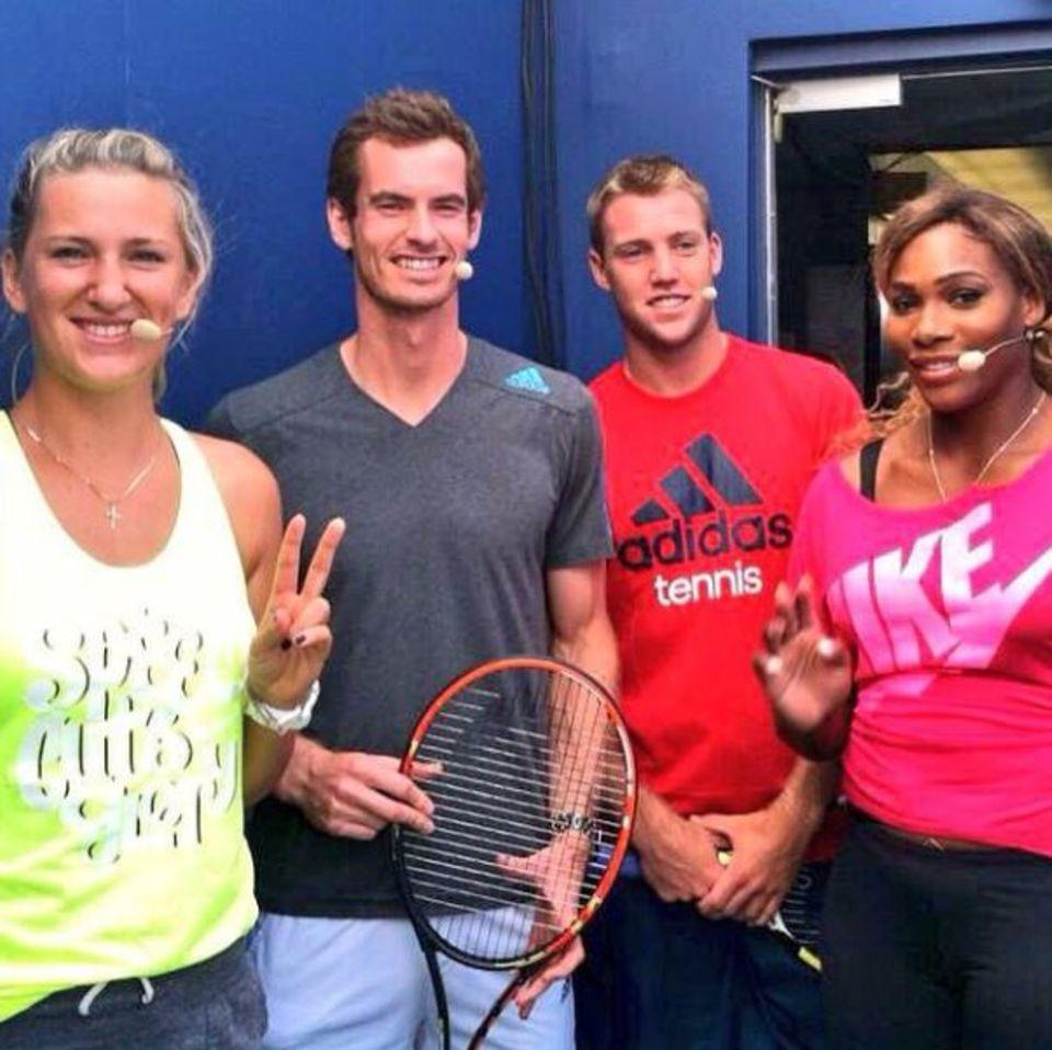 Andy Murray (2.v.l.) bereitet sich mit seinen Kollegen auf die US Open vor.