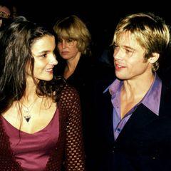 """Brad Pitt und Katja von Garnier  1997 sieht man Brad Pitt und die deutsche Regisseurin Katja von Garnier Händchenhaltend auf der Premiere von """"Sieben Jahre in Tibet"""". Die Bilder gehen um die Welt, doch kurze Zeit später hat Brad Pitt schon eine andere Frau im Arm."""