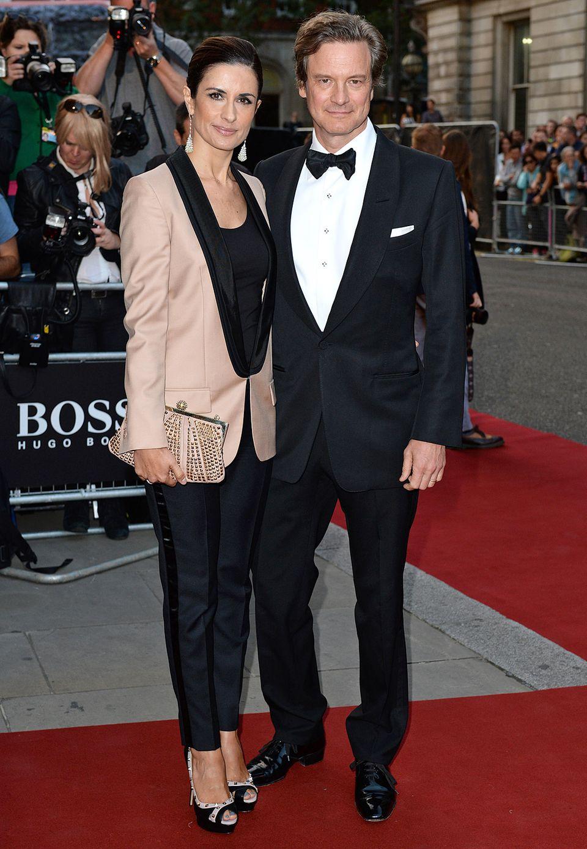 Partnerlook im Anzug: Colin Firth mit seiner Frau Livia