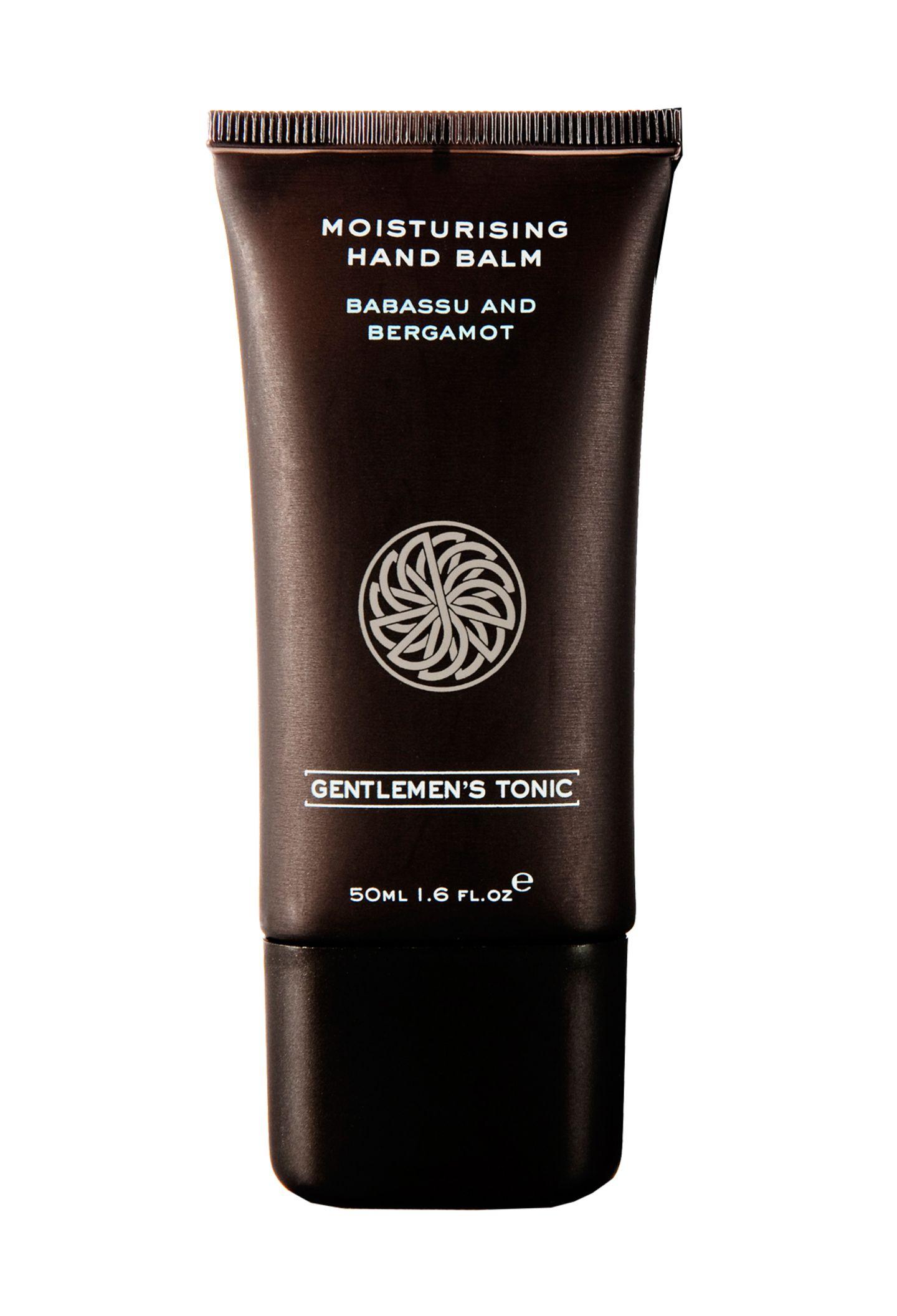"""Manuka-Honig für die Extraportion Feuchtigkeit: """"Moisturizing Hand Balm""""von Gentlemens Tonic, 50 ml, ca. 16 Euro, über dergepflegtemann.de"""