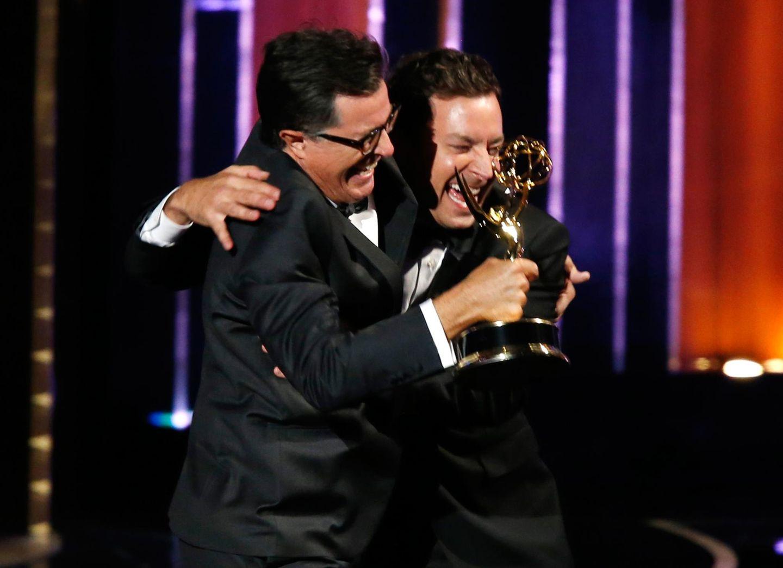 Stephen Colbert und Jimmy Fallon