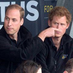 Auch William ist gekommen, um sich die Spiele mit seinem Bruder Harry anzuschauen.