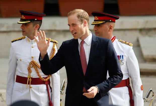 """Prinz William besucht die Messe in der """"St. John's Cathedral"""" in Maltas Hauptstadt Valletta."""