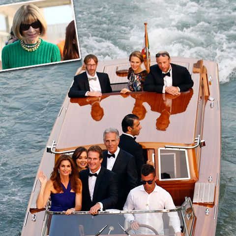 Anna Wintour, Cindy Crawford und Rande Gerber, Matt Damon und Luciana Barroso, Bono