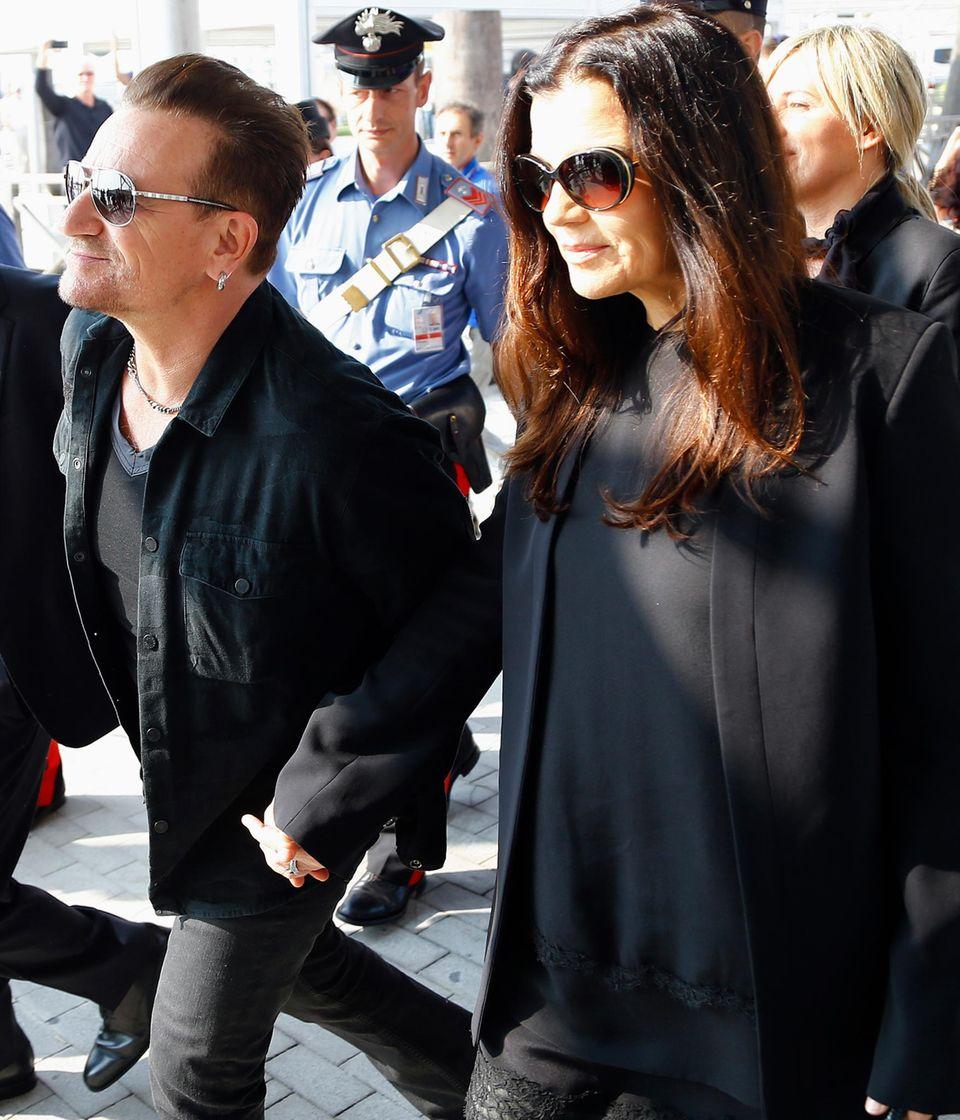 """""""U2""""-Frontmann Bono und seine Frau Ali Hewson"""