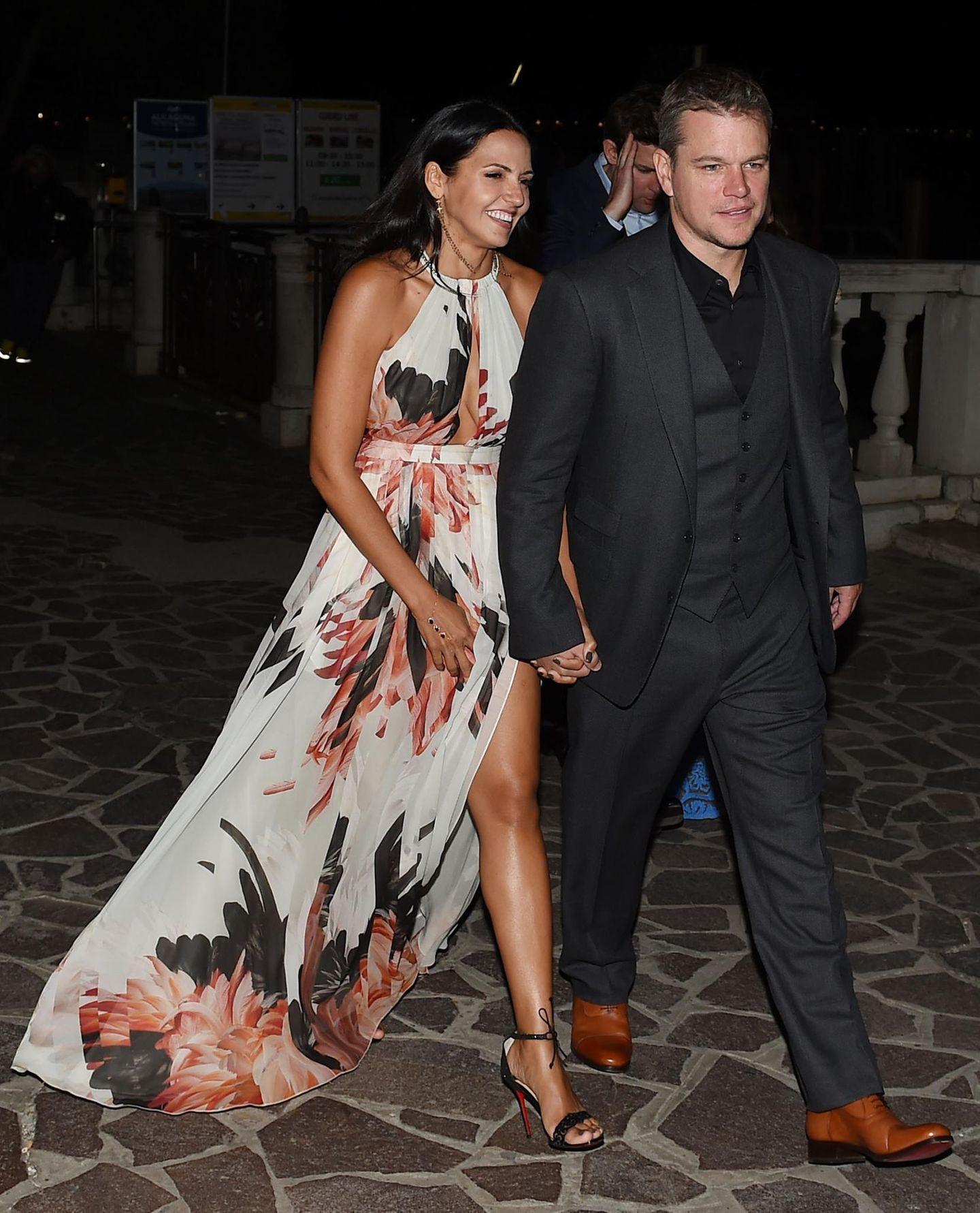 Matt Damon und seine Frau Luciana Barroso am Abend vor der Hochzeit