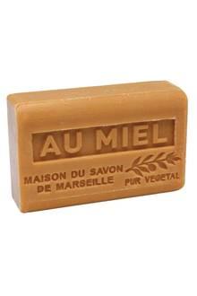 """Die """"Au Miel""""-Seife reinigt die Haut sanft. Von La Maison du Savon de Marseille, 125 g, ca. 3 Euro"""