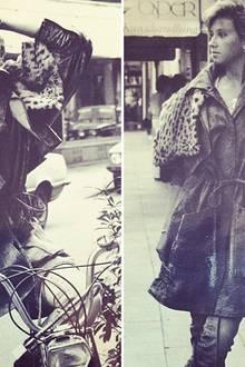 """Anfang der 80er Jahre posiert Carmen Geiss (damals noch Carmen Schmitz) bei ihrem ersten Fotoshooting für den """"Kölner Express""""."""