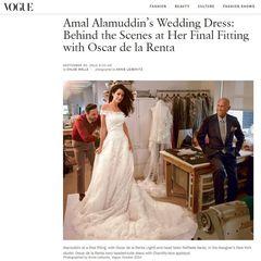 Für die Hochzeit von Amal und George Clooney kreierte Oscar de la Renta das Traumkleid mit dem die schöne Juristin vor den Altar trat.