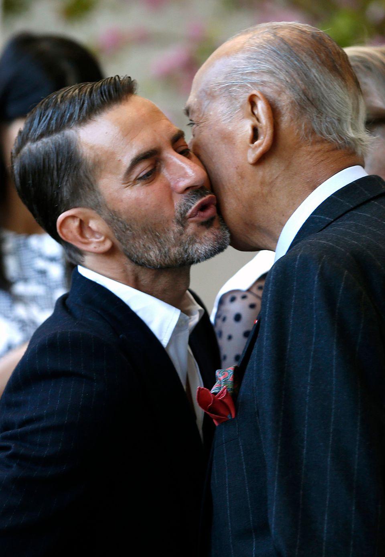 Von wegen Konkurrenz: Oscar de la Renta verstand sich hervorragend mit seinem Designer-Kollegen Marc Jacobs.