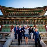 Der Gyeongbokgung-Palast bietet eine großartige Kulisse.